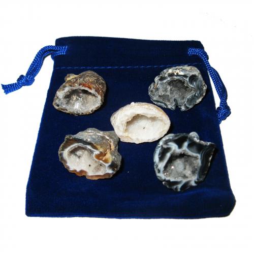 Glücksgeoden 11 teiliges Geschenk-Set mit 5 Geoden a 2-2,5 cm