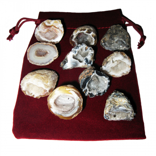 Feengarten 21 teiliges Geschenk-Set mit 10 Geoden a 2,5-3 cm