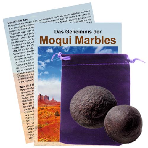 Moqui Marble Lebende Steine Paar mit Zertifikat & Booklet ca. 3,5-4cm