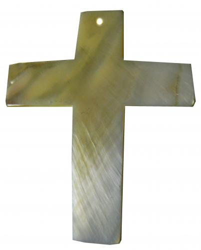Perlmutt Kreuz 50x65mm