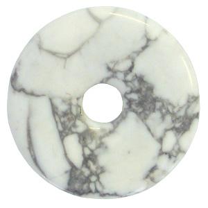 Magnesit Donut Anhänger ca. 30mm