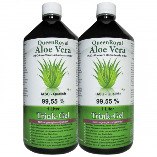 QueenRoyal Aloe Vera Trink Gel 99.55 % pur 2 Liter Sparpack