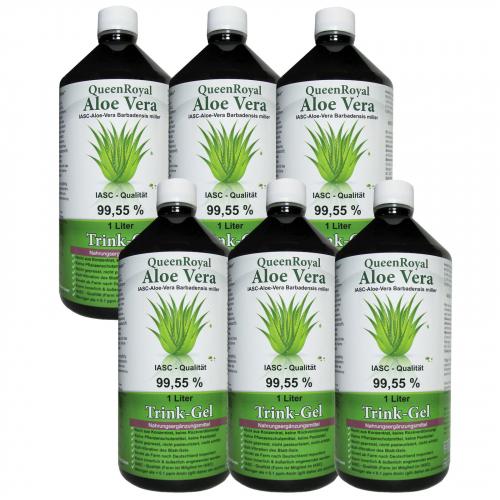 QueenRoyal Aloe Vera Trink Gel 99.55 % pur 6 Liter Sparpack