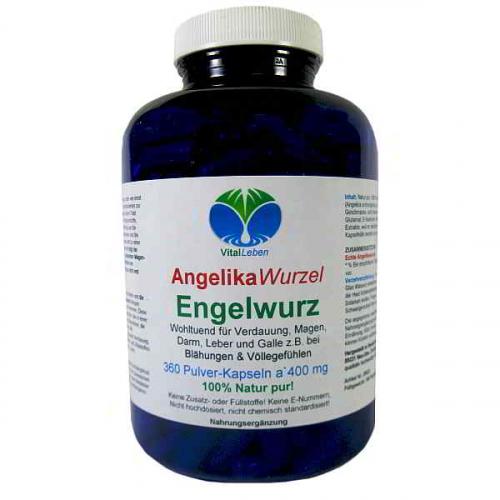 Engelwurz AngelikaWurzel 360 Pulver Kapseln