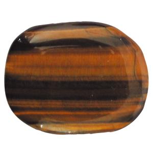 Tigerauge Schlaf-Stein mit Täschchen und Beschreibung ca. 3-5cm