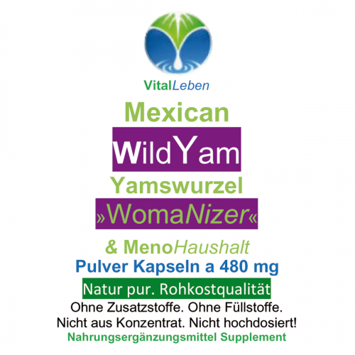 Mexican Wild Yam, Yamswurzel, 720 Pulver-Kapseln a 400mg