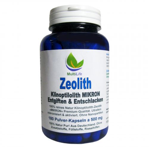 Zeolith Klinoptilolith MIKRON 180 Pulver Kapseln