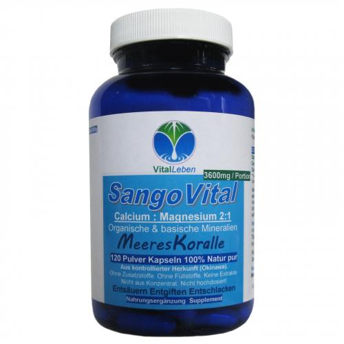 SangoVital Meereskoralle Kalzium & Magnesium 120 Kapseln