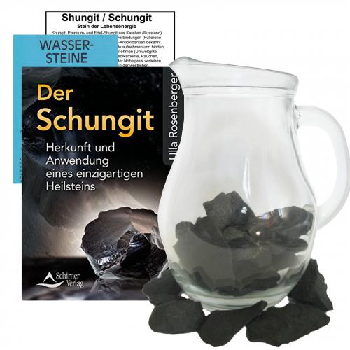 Shungit / Premium Schungit EDELSTEIN WASSER SET 5-tlg Mit BUCH