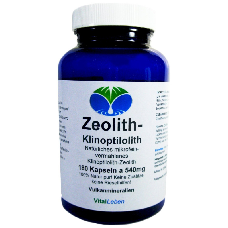 zeolith klinoptilolith 180 kapseln g nstig bei naturheilmittel heilsteine methusalem neu ulm. Black Bedroom Furniture Sets. Home Design Ideas