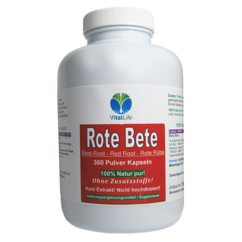 Rote Bete Rote Beete 360 Pulver Kapseln