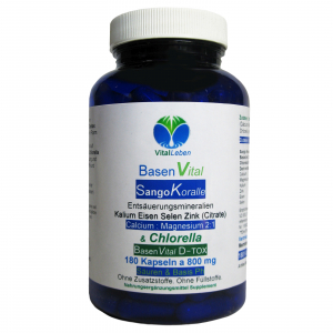 Basen Vital Sango Koralle + Citrate + Chlorella 180 Kapseln