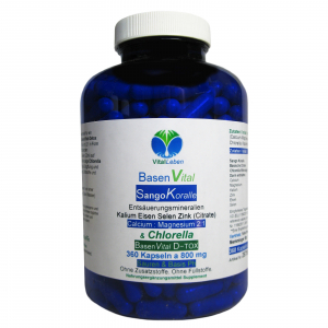 Basen Vital Sango Koralle + Citrate + Chlorella 360 Kapseln