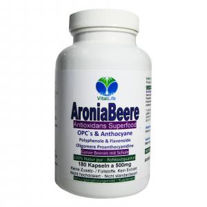 Aroniabeere OPC + Antioxidantien + Vitamine C+E+K - 180 Kapseln