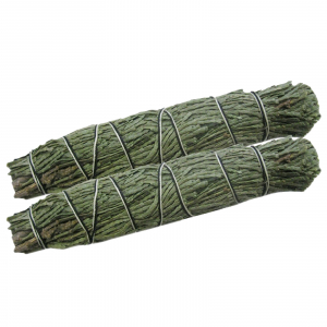 2 x Zeder Zedernspitzen Smudge Sticks 12-14 cm Kräuter Bündel