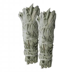 2 x Weißer Salbei White Sage Smudge Sticks zum Räuchern
