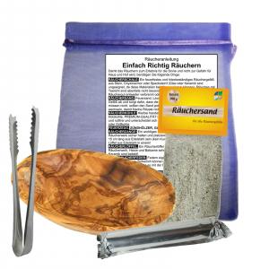 Räucherschale Oliven / Wurzel Holz 11-12cm Räucher Set 6 teilig