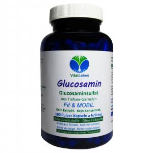 Glucosamin Glucosaminsulfat 180 Pulver Kapseln
