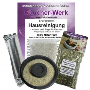 Räucherset 5-tlg Energetische Hausreinigung + schwarze Naturstein Schale
