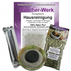 Räucherset 5-tlg Energetische Hausreinigung mit grüner Onyx Schale