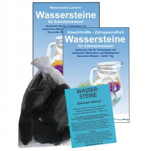 Shungit Premium Schungit EDELSTEIN WASSER 5-tlg SET   WASSERSTEINE 300g