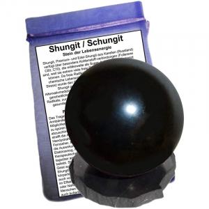 Shungit (Schungit) Kugel 3cm mit Sockel