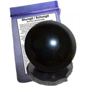 Shungit (Schungit) Kugel 5cm mit Sockel