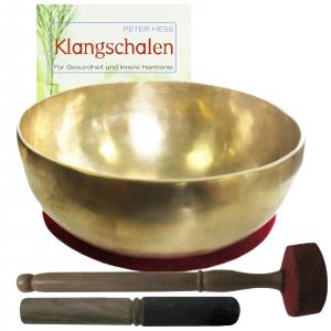 Therapie KLANGSCHALE KLEINE BECKENSCHALE 1400-1600g + BUCH von Peter Hess