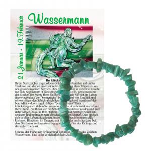 Amazonit Monatsstein Splitter Armband Wassermann