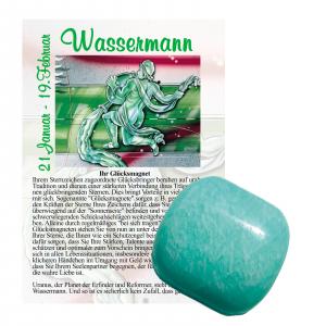 Amazonit Glücksmagnet ca. 2-4cm Wassermann