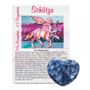 Sodalith Herz ca. 3,5cm Schütze
