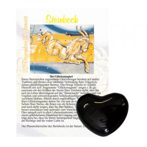 Onyx Herz ca. 3,5cm Steinbock