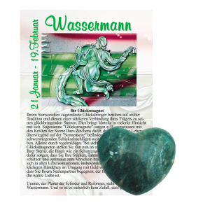Amazonit Herz ca. 3,5cm Wassermann