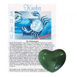 Aventurin grün Herz ca. 3,5cm Krebs