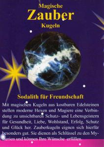 Sodalith Zauberkugel 4cm mit Zauberstein magisch