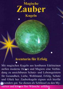 Aventurin Zauberkugel 4cm mit Zauberstein magisch