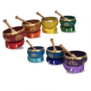 7 x Chakra-Harmonie Therapieklangschalen 21-tlg. Klangmassage-Set