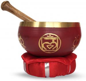Chakra-Harmonie Bronze Klangschale für das 1. Chakra (Wurzelchakra)