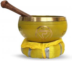 Chakra-Harmonie Bronze Klangschale für das 3. Chakra (Solarplexus)