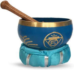 Chakra-Harmonie Bronze Klangschale für das 5. Chakra (Halschakra, Kehlchakra)