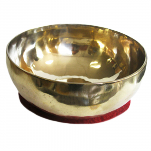 Sangha Gold Therapie Klangschale ca. 2250-2500g + Buch von Peter Hess