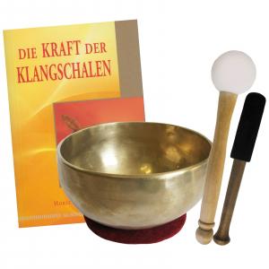 Therapie Klangschale Universalschale ca. 400-500g + Buch von Horst Oberle