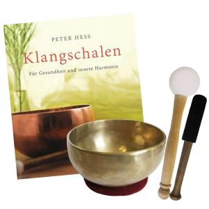 Therapie Klangschale Universalschale ca. 500-600g + Buch von Peter Hess
