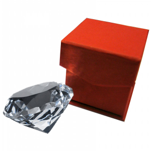 Glas / Lichtkristall Diamant ca. 55x35mm