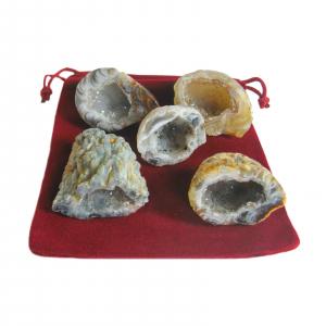 Feengarten 11 teiliges Geschenk-Set mit 5 Geoden a 2-2,5 cm