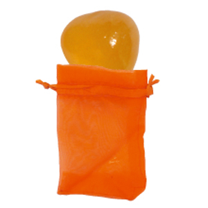 Trommelstein chakraaktiv 2. Chakra Orangencalcit