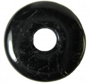 Turmalin schwarz Donut Anhänger ca. 30mm