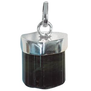 Turmalin schwarz Anhänger ca. 2-3cm in 925er Silber