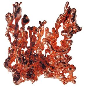 Kupfer Naturkupfer Cluster bei Erdstrahlen & Wasseradern ca. 6-8cm