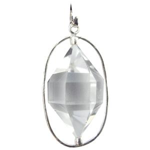Bergkristall Pendel ca. 3 cm in 925 Silber